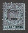 GREAT BRITAIN MOROCCO #23 MINT HINGED