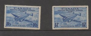 Canada Scott #CE1-CE2 Special Delivery Airmail Stamps - Mint Set