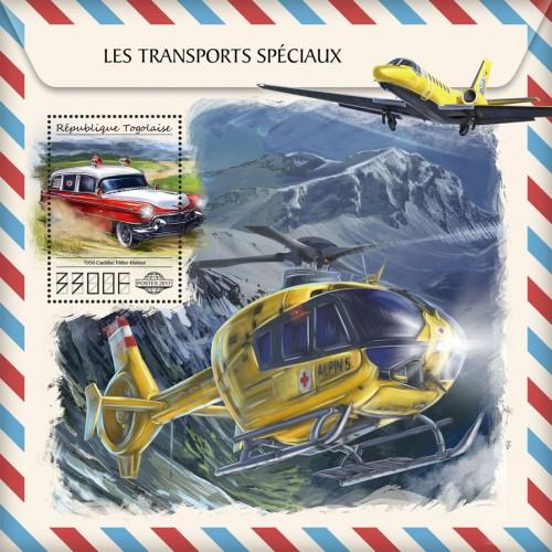 TOGO - 2017 - Special Transport - Perf Souv Sheet - MNH