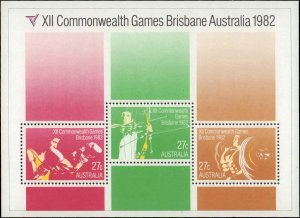 1986 Australia #842-845, 844a, Complete Set(5), Never Hinged