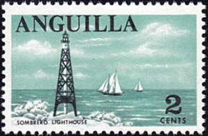 Anguilla # 18 mnh ~ 2¢ Sombrero Lighthouse