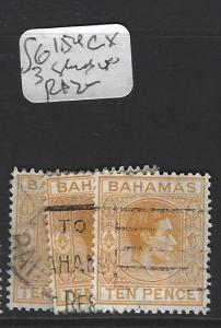 BAHAMAS (P2706B) KGVI  10 D   SG 154C  X  3     SHADES     VFU