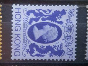 HONG KONG, 1982, used 20c, Queen Elizabeth II, Scott 389