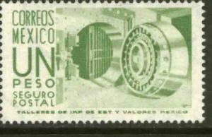 MEXICO G22, $1Peso 1950 Definitive 3rd Printing wmk 350. MINT, NH. VF.