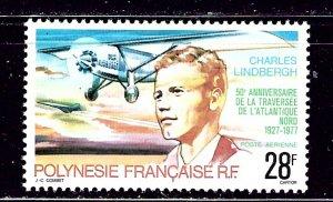French Polynesia C149 MH 1977 Charles Lindbergh