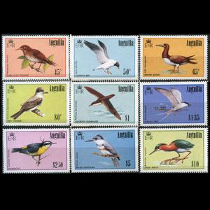 ANGUILLA 1985 - Scott# 631-9 Birds 45c-$10 NH