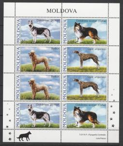 Moldova 2006 Animals, Pets, Dogs, 8 MNH stamps sheet