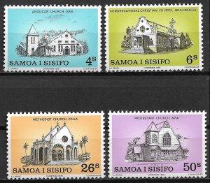 1979 Samoa 517-20  Samoan Churches C/S mint