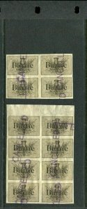 12 VINTAGE BARRiE NEW YORK TRADE MARK IMPERF Poster Stamps (L1132) 19 CENTURY NY