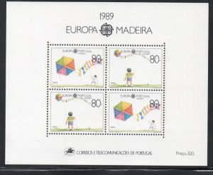 Portugal  Madeira Sc 130 1989  Europa stamp sheet mint NH