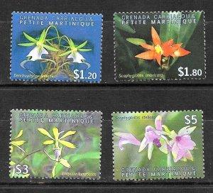#8039 GRENADA 2010 FLORA FLOWERS ORCHIDS  YV 3850-3 MNH