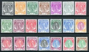 KELANTAN-1951-55  A mounted mint set to $5 Sg 61-81