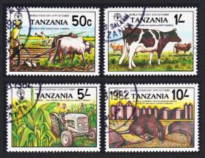 Tanzania World Food Day 4v CTO SG#361-364 SC#209-212