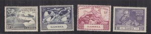 GAMBIA, 1949 UPU set of 4, mnh.