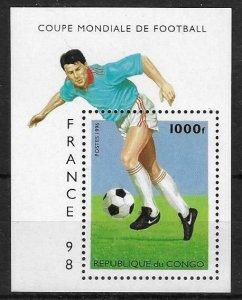 1998    CONGO  -  SG. 1479a  -  WORLD CUP  -  MNH