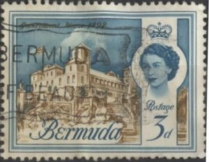 Bermuda 177 (used) 3p Government House (1962)