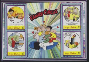 Antigua 2004 Family Circus S/S group Sc# 2781-84 NH