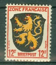 Germany - Allied Occupation - French Zone - Scott 4N6 MNH