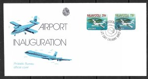 NIUAFO'OU TIN CAN ISLAND 1983 Airport Set Sc 1-2 Cachet FDC First Issue