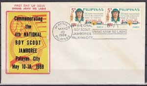 Philippines, Scott cat. 1019. National Scout Jamboree issue. First day cover. ^