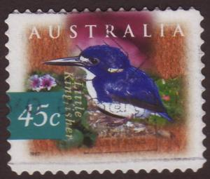 Australia 1997 Sc#1537 SG#1688 45c Little Kingfisher, Birds Used