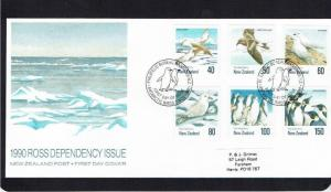 New Zealand, Ross Dependency: 1990, Birds of the Antarctic, FDC.