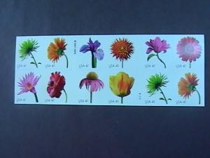 U.S.# 4176-4185(4185a)-MINT/NH-BOOKLET PANE OF 20-BEAUTIFUL BLOOMS- FLOWERS-2007