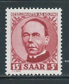 Saar B74 Adolph Kolping single MNH