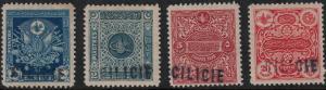 Cilicia 1919 SC J1-J4 Set LH CV $124.50