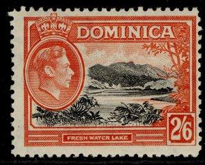 DOMINICA GVI SG107, 2s 6d black & vermilion, M MINT. Cat £23.