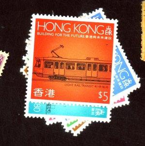 HONG KONG #550-55 MINT F-VF OG NH Cat $11