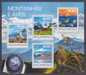 2014 Mozambique 7610-7613KL Mountain birds 10,00 €
