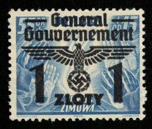 Reich, 1940, Winter Welfare, 55+15Gr/1ZL, MNH, Overprinted, CV $ 14.16 (T-8162)