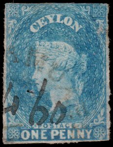 Ceylon Scott 3 (1857) Used F, CV $47.50 C