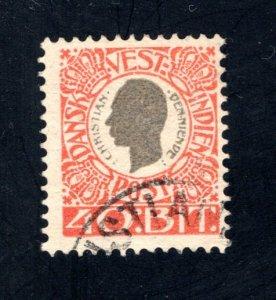 Danish West Indies #35,  F/VF,  Used,   CV $9.50 ....1630034
