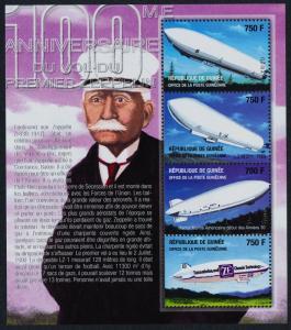 Guinea 2076-8 MNH First Zeppelin Flight, Airships