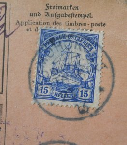 German East Africa 1905 Fifteen Heller with MOHORO postmark