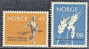 NORWAY SC# 378+379 *USED* 45o+90o  1959  SEE SCAN