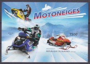 2012 Burundi 2937/B311b Cars - Snowmobile 12,00 €