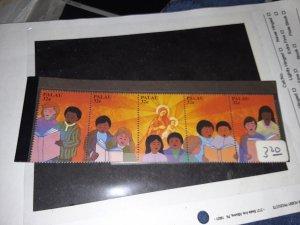 Palau 450 a e strip of five Christmas issue