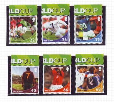 Isle of Man Sc 954-9 2002 Soccer World Cup mint NH