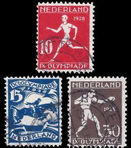 Netherlands 1928 Sc B30-32 1928 Olympics high values