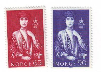 Norway Sc549-0 1969 Queen Maud stamp set mint NH