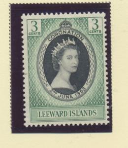 Leeward Island Scott #132, Mint Light Hinge Marks MLH, Queen Elizabeth II Cor...