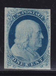 9 VF-XF unused ( mint no gum ) good margins with nice color cv $ 250 ! see pic !