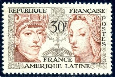 Symbols Of Latin American French Culture France Stamp Sc795 Mnh