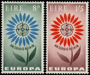 ✔️ IRELAND 1964 - EUROPA CEPT - SC. 196/197 MNH OG [IR0167]