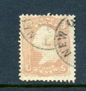 Scott #83 Washington C-Grill Used Stamp (Stock #83-7)