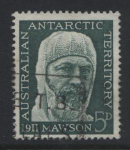 Australian Ant.Terr.- Scott L7- Mawson -1961 - VFU- 5p -Dk Green