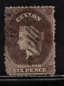 CEYLON Scott # 53e Used - Queen Victoria
